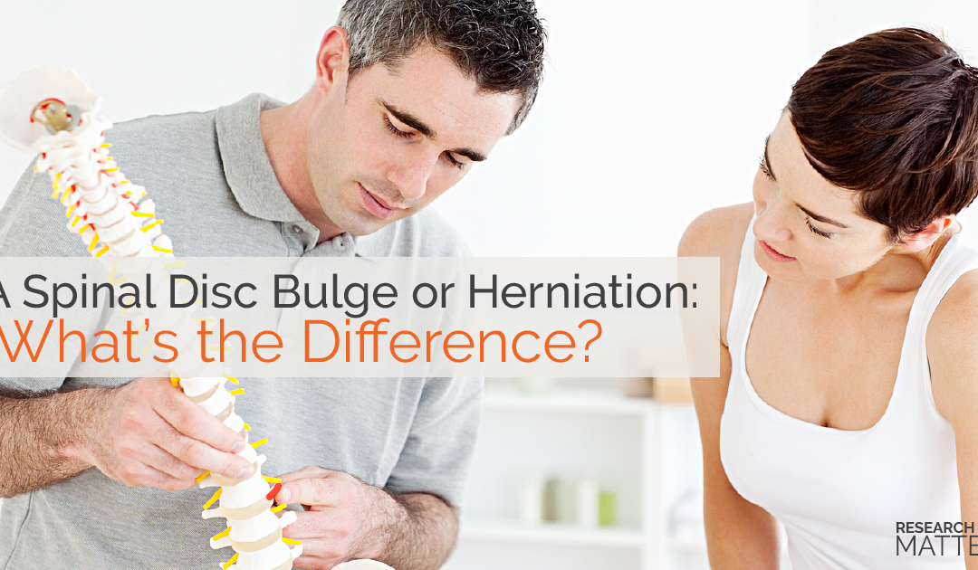 Spinal Disc Bulge or Herniation: What's the Difference?